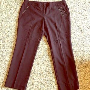 Worthington Purple Ankle Pants